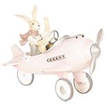 Decoratie konijn in vliegtuig