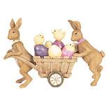 Decoratie konijnen met kar