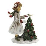 Decoratie kind met kerstboom
