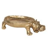 Decoratie schaal nijlpaard
