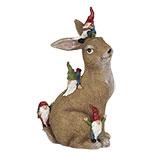 Decoratie konijn met kabouters