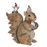 Decoratie eekhoorn met kabouters