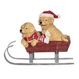 Decoratie honden op slee LED