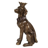 Decoratie hond zittend