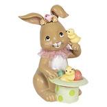 Decoratie konijn met toverhoed