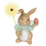 Decoratie konijn met bloem