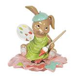 Decoratie konijn zittend op een bloem