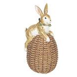 Decoratie konijn zittend op ei