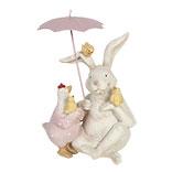 Decoratie konijn met paraplu
