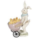 Decoratie konijn met kar