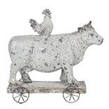 Decoratie koe en kip