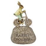 Decoratie konijn fietsend