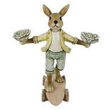 Decoratie konijn op skateboard