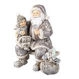 Decoratie kerstman met kind