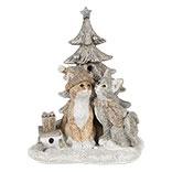 Decoratie katten bij kerstboom