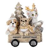 Decoratie dieren in kar