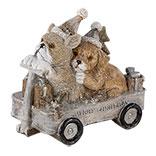Decoratie honden in kar