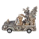 Decoratie dieren in auto
