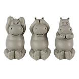 Decoratie nijlpaarden horen, zien en zwijgen