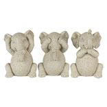 Decoratie olifanten horen, zien en zwijgen