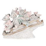 Decoratie muizen op slee