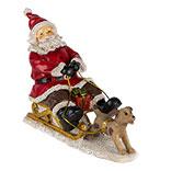 Decoratie kerstman op slee