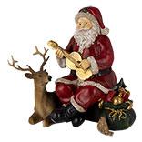 Decoratie kerstman met rendier