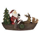 Decoratie kerstman in bootje