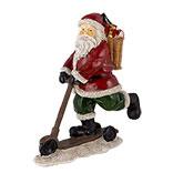 Decoratie kerstman op autoped