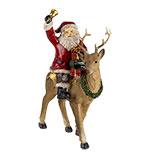 Decoratie kerstman op rendier