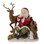 Decoratie kerstman met dieren