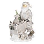 Decoratie kerstman met kar