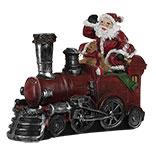 Decoratie locomotief met kerstman