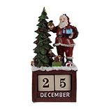 Kalender met kerstman en kerstboom