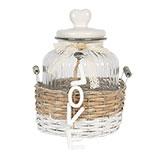 Basket with storage jar