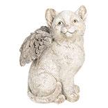 Decoratie kat met vleugels