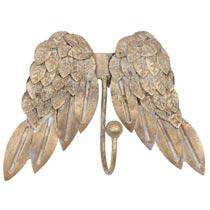 Wandhaak met engel vleugels