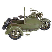 Model motorcycle with sidecar