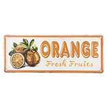 Tekstbord orange