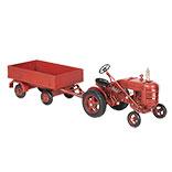 Model tractor met aanhangwagen