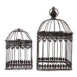 Decoratie vogelkooi (set van 2)