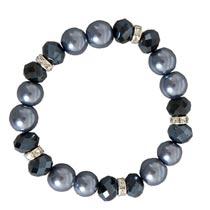 Armband zwart/grijs