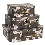 Decoratie koffer (set van 3)