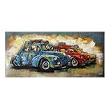 Wanddecoratie 2 autos