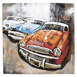 Wanddecoratie (3 autos)