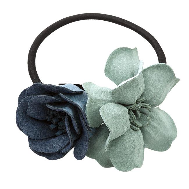 Haarelastiekje Bonita blue green