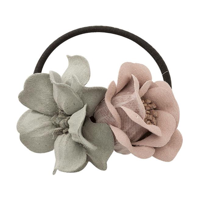Haarelastiekje Bonita pink grey