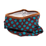 Kindersjaal col dotted brown