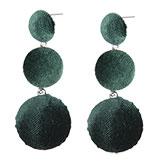 Oorbellen velvet green