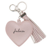 Key chain Heart tassel